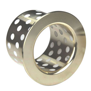 PTFE Plugged flanged oilless Bronze bushing